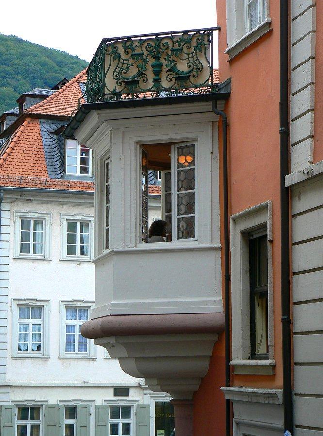 Erker In Der Heidelberger Altstadt