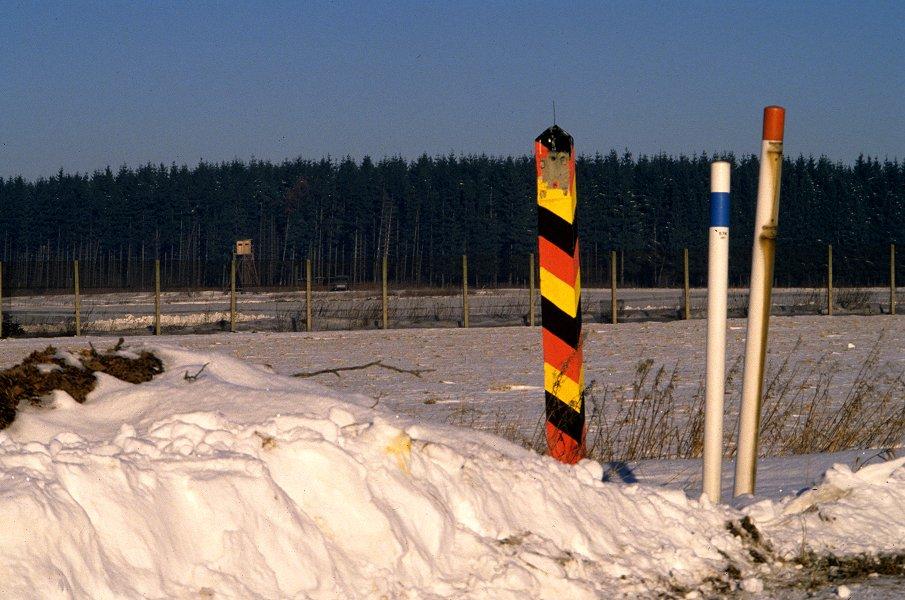 Grenze zwischen Bayern und der DDR